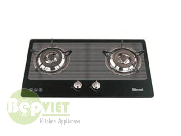 Unbox sản phẩm bếp gas âm Rinnai RVB-2BG(L)
