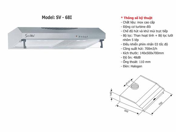 Máy hút khói cổ điển Sevilla SV-68I