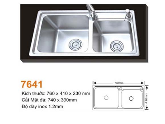 Chậu rửa bát AMTS 7641
