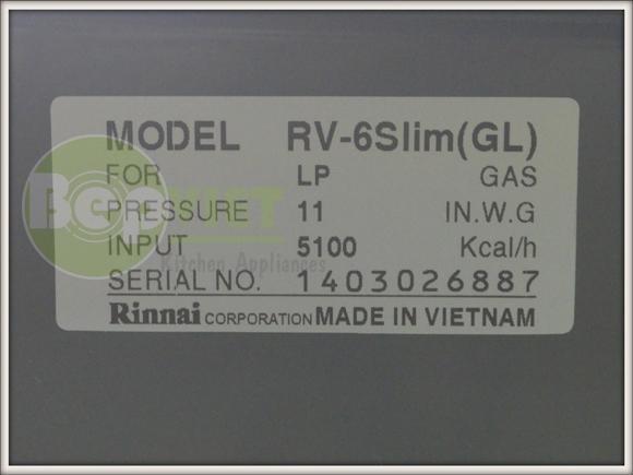 tem của bếp RV-6slim